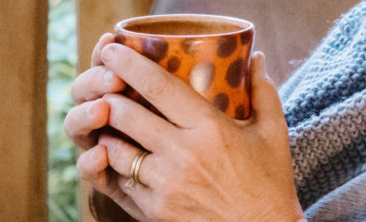 coffee cup pensive
